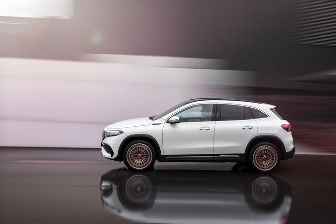 De EQA 250 haalt zo'n 426 kilometer per laadbeurt, zegt Mercedes-Benz