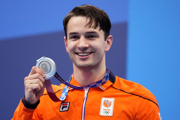 Arno Kamminga met zijn eerste olymische medaille. Beeld AP