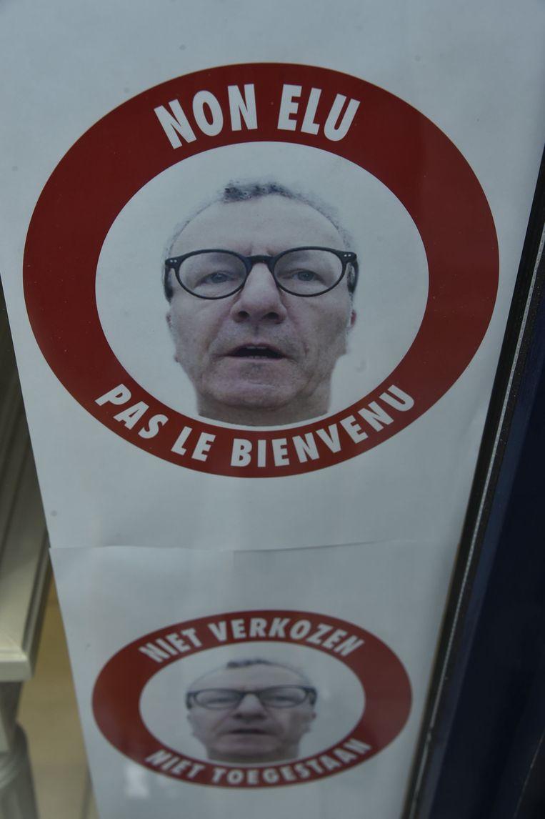 Mayeur is kop van Jut bij vele Brusselse winkeliers. Beeld Photo News