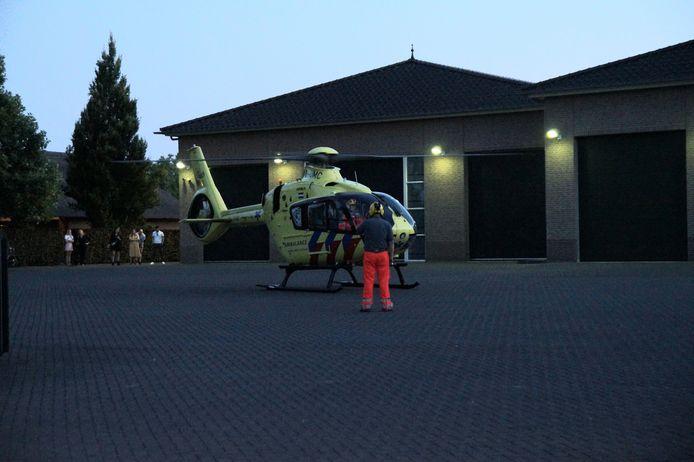 De traumahelikopter moest worden opgeroepen.