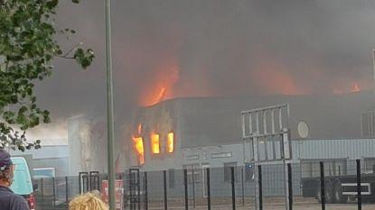 Giftige rook door brand in Overpelt: omwonenden moeten ramen en deuren gesloten houden