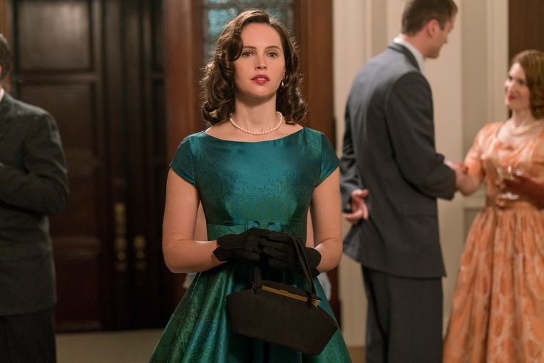 Felicity Jones als Ruth Bader Ginsburg. Beeld Jonathan Wenk / Focus Features