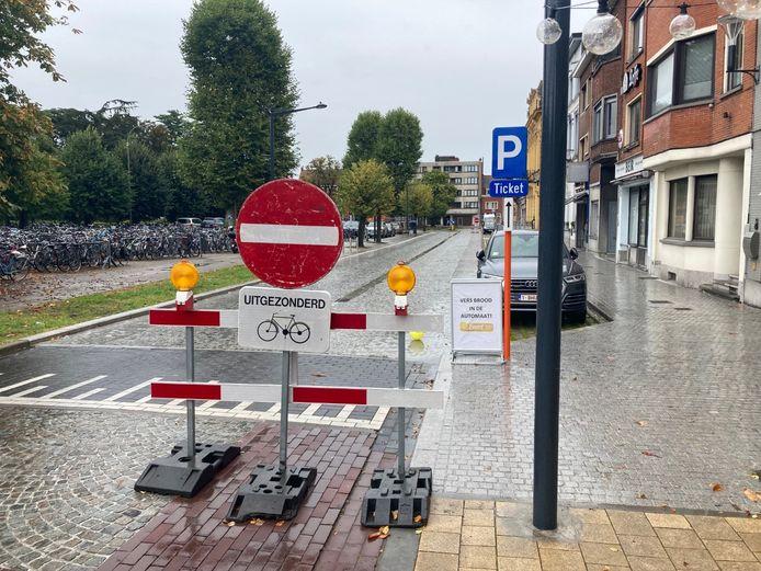 Rijden van het Stationsplein richting de rotonde is tijdelijk niet mogelijk.