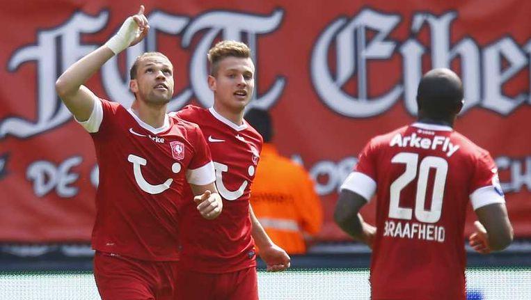 Castaignos heeft FC Twente op 2-0 gezet. Beeld anp