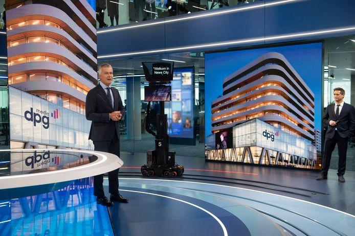 De plechtige opening van de VTM nieuwstudio in de gebouwen van DPG Media in  Antwerpen: Christian Van Thillo.