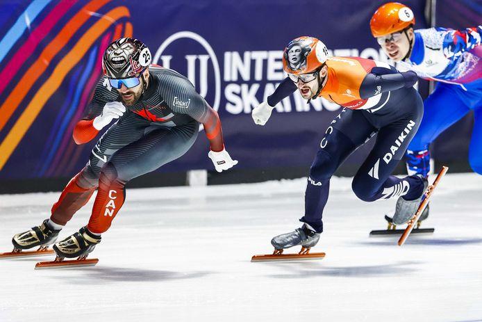 Itzhak De Laat eindigde tweede achter Charles Hamelin