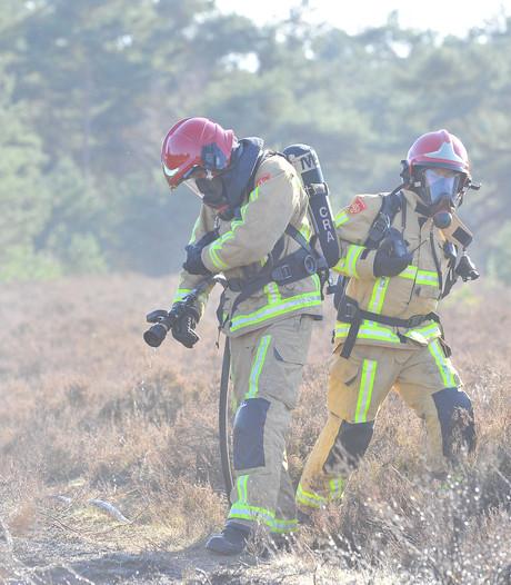 Kinderen steken per ongeluk stuk bos in Budel in brand