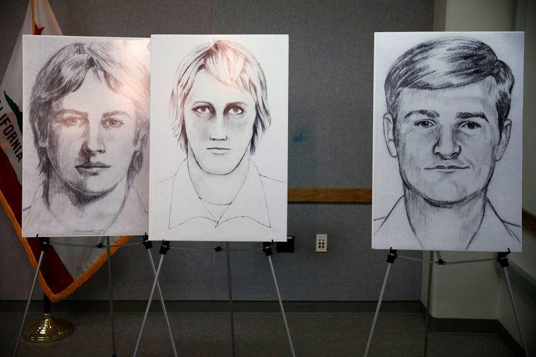 Robotfoto's van de 'Golden State Killer', samengesteld met de hulp van zijn slachtoffers. Beeld Photo News