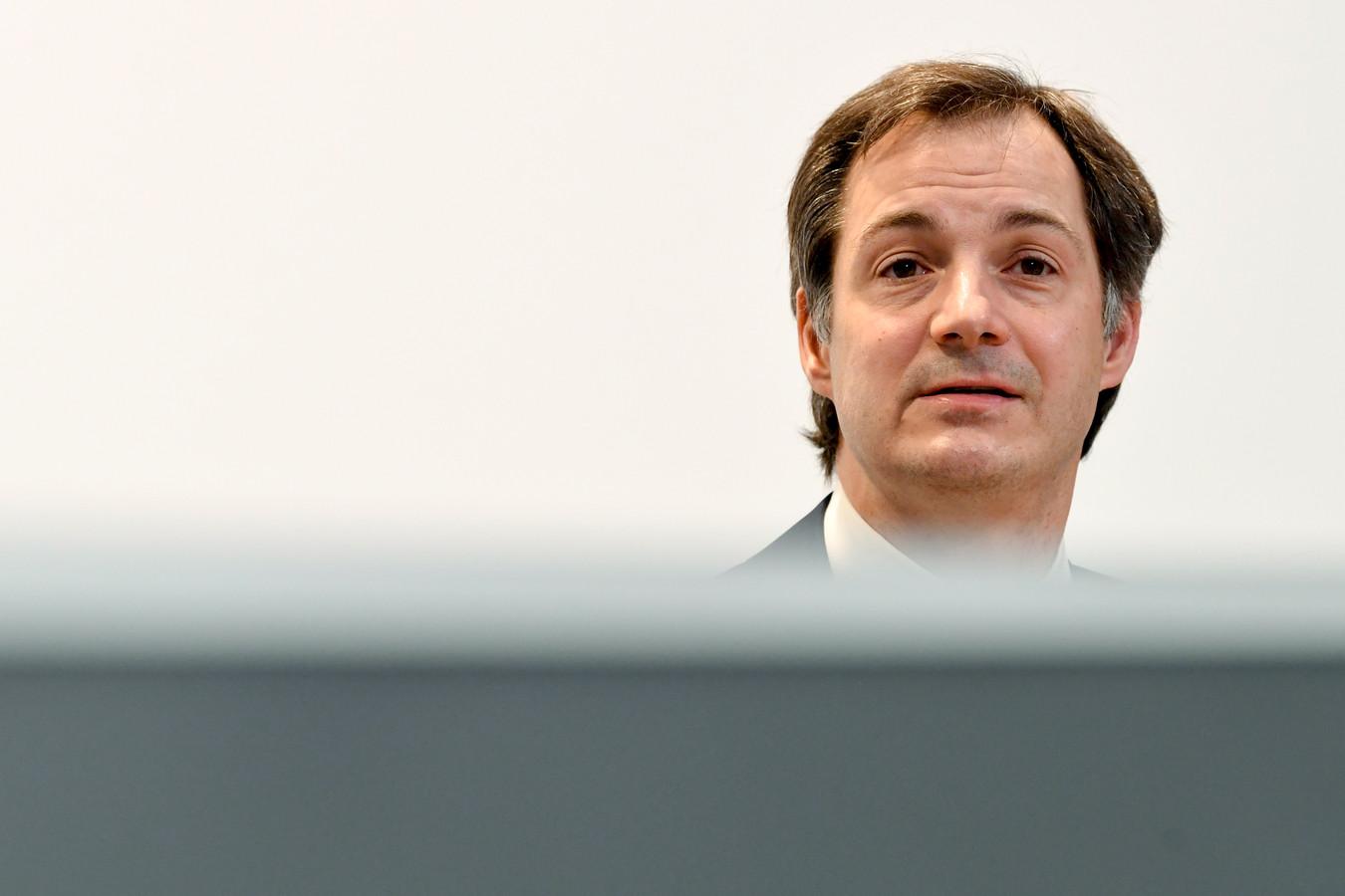 Alexander De Croo, Premier ministre.