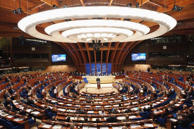 Het parlement van de Raad van Europa in vergadering. Beeld AFP