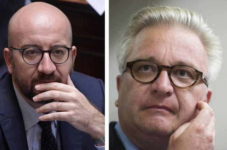 Premier Michel en prins Laurent. Beeld photonews