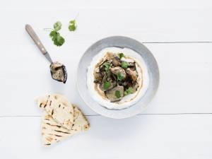 Wat Eten We Vandaag: Labneh met gegrilde aubergine