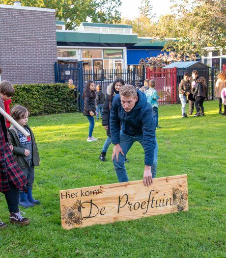 Buurt en school samen in eigen proeftuin in Harderwijk: 'Kijk eens wat een uitzicht ik krijg'