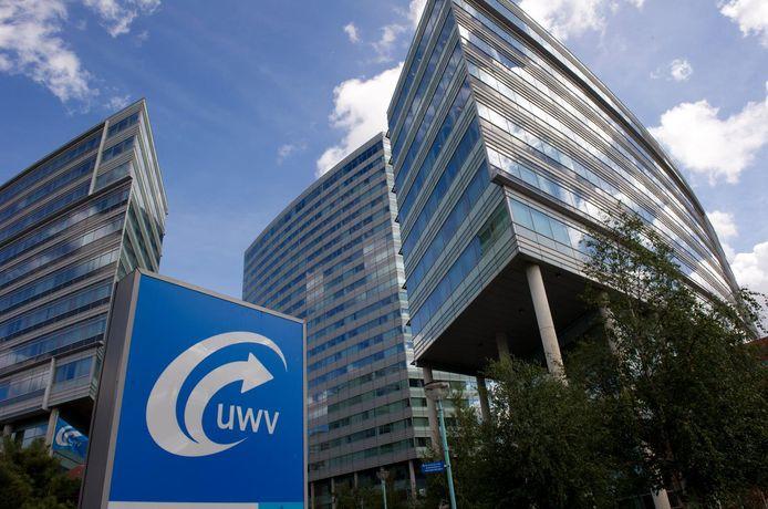 Het hoofdkantoor van het UWV op de La Guardiaweg in Amsterdam.