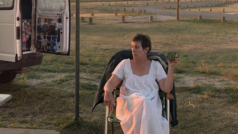 Frances McDormand vertolkt op briljante wijze het hoofdpersonage Fern in 'Nomadland'. Beeld TMDB