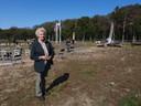 Hiltje van Eck na afloop van de herdenking op de Ginkelse Heide in Ede.