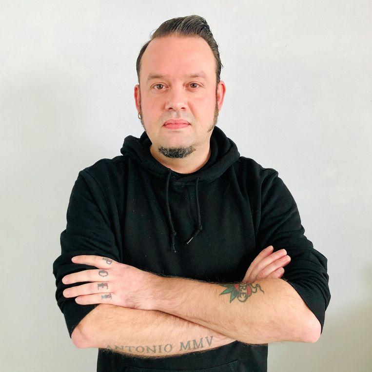 Mark Boninsegna, gemeentedichter van Smallingerland.   Beeld Margriet Oostveen