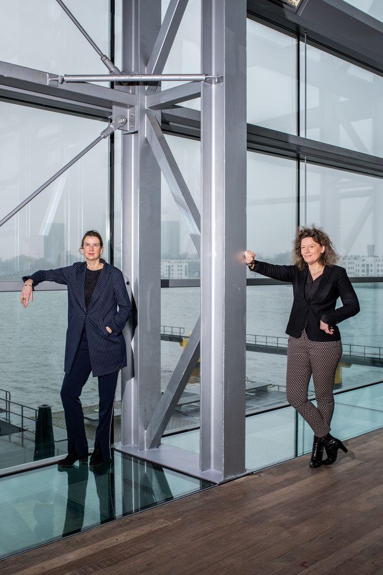 Holland Festivaldirecteur Emily Ansenk (l) en Carolien Gehrels:  'De scenario's veranderen per week.' Beeld Nosh Neneh