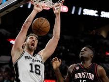 Gasol (37) voor 41 miljoen drie jaar langer bij San Antonio Spurs