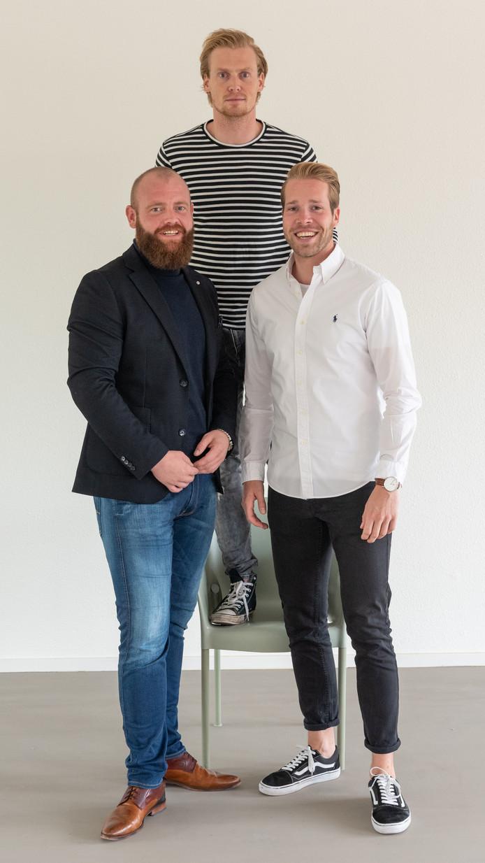 Frans Apperloo, David de Vries en Marthijn van Oostveen (vlnr) bieden zzp'ers en start-ups onderdak.