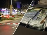 Taxi knalt tegen slagboom bij achtervolging