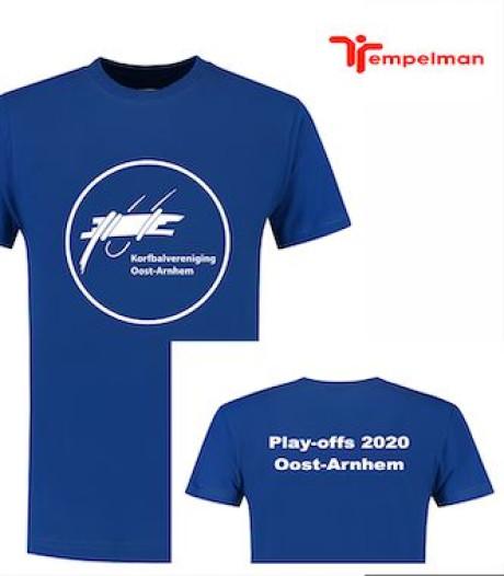 Stormloop op kaartjes Oost-Arnhem voor play-offs Korfbal League; speciaal shirt ontworpen