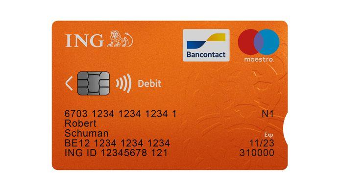 Bankkaarten ING krijgen een inkeping voor mensen met een visuele handicap.