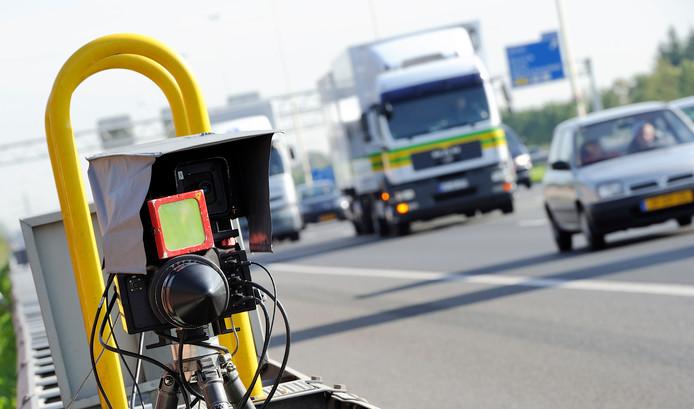 Snelheidscontrole langs de A12.