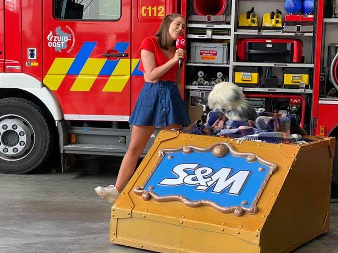 Samson en Marie bij de brandweer in Wetteren.