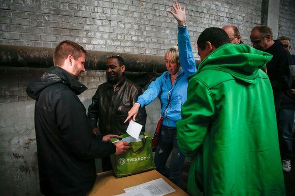 Beeld van de stemming in de gevangenis van Vorst.