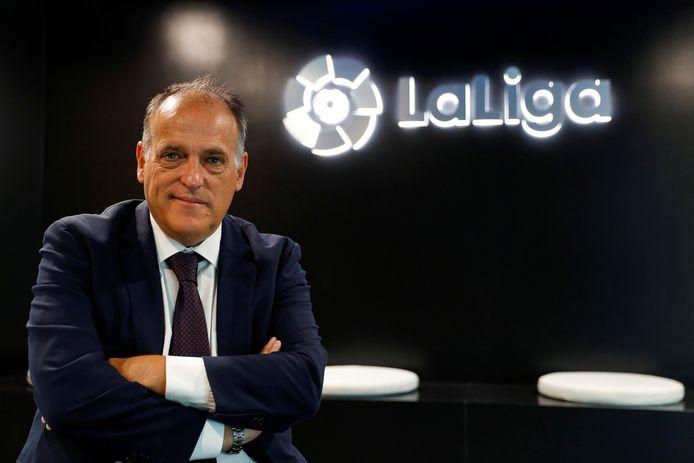 Javier Tebas, de baas van La Liga.