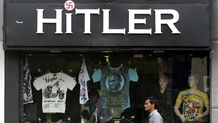 De winkel Hitler in Ahmedabad Beeld EPA