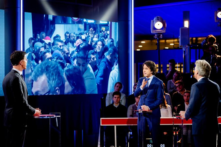 Rutte versus Klaver Beeld ANP