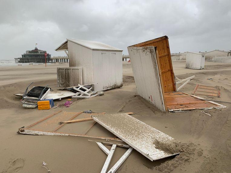 Storm Odette richtte al schade aan in Blankenberge. Beeld Benny Proot