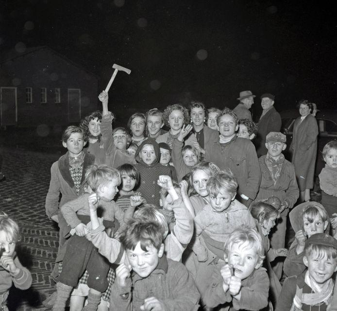 Kerstfeest bij woonwagenbewoners in 1955