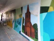 Graffittikunst in 'het mooiste tunneltje van Altena'
