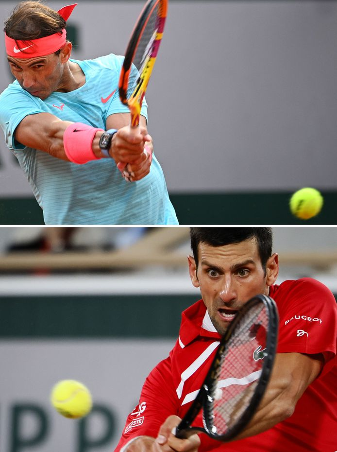 Nadal en Djokovic.