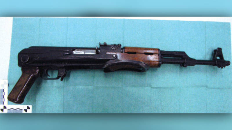 Het wapen dat werd aangetroffen in de kelder van Jaouad A., een Rotterdammer die volgens de rechtbank van plan was een aanslag te plegen.