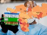 CORONAKAART | Besmettingen in regio stijgen ondanks landelijke daling; zes sterfgevallen in 24 uur