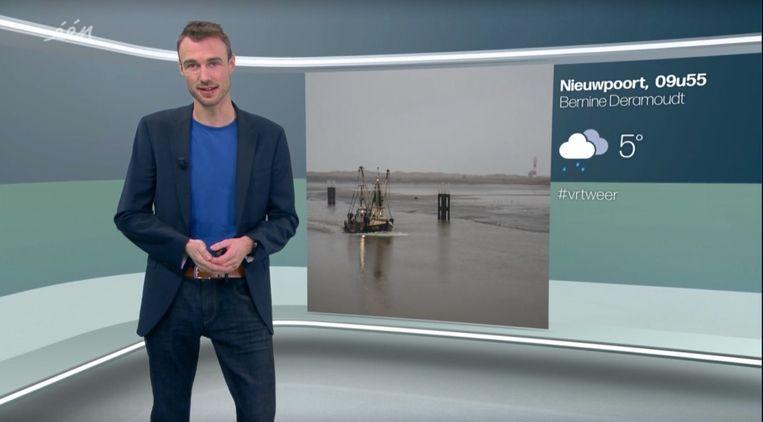 Bram Verbruggen, de nieuwe weerman van de VRT. Beeld VRT