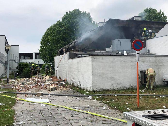 De ravage na de explosie was enorm.