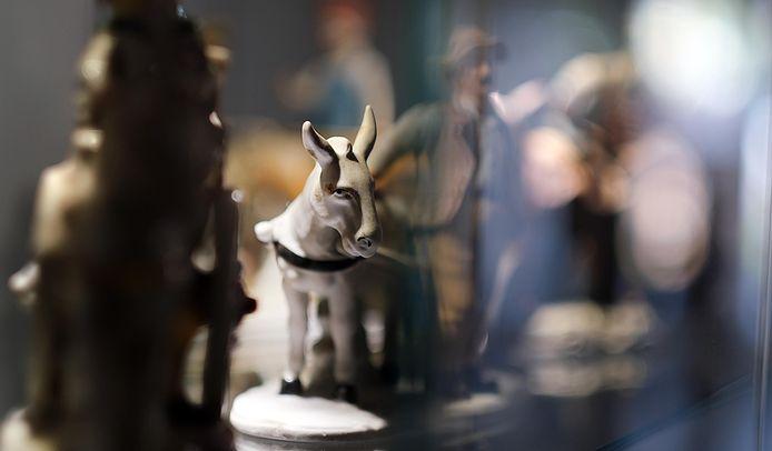 Een close-up, van een miniatuurezeltje.