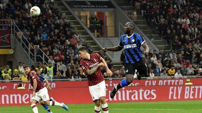 """Lukaku maakte zijn 50ste kopbalgoal tegen AC Milan: """"Maar pa kon beter koppen dan ik"""""""