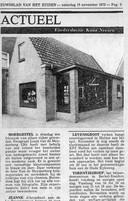 Het Nieuwsblad van het Zuiden maakt in 1975 meldging van de opening van Photo-atelier Louis Van Den Meijdenberg aan het Rootven in Moergestel