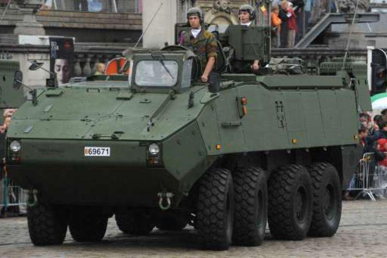 Het pantserinfanterievoertuig Pirana verscheen voor het eerst in het openbaar. Beeld UNKNOWN