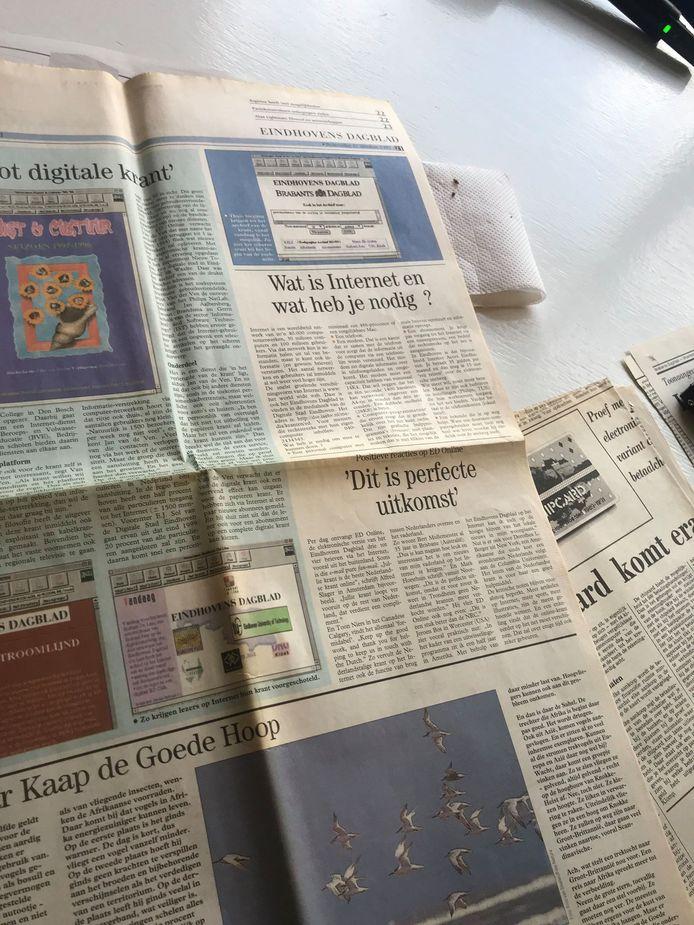 Het artikel in de krant over de eerste dagen ED online.