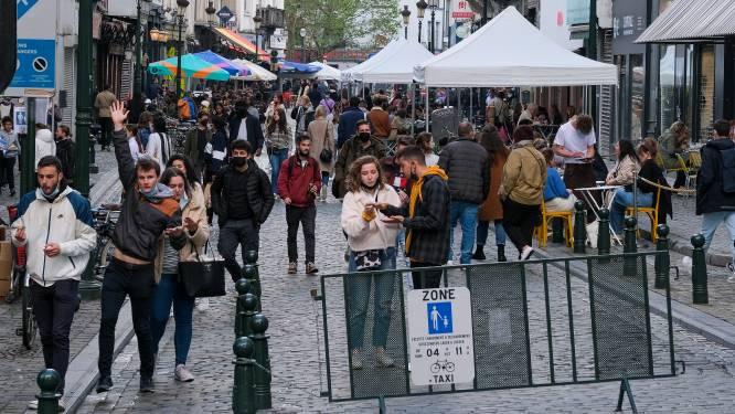 Druktebarometer Brusselse Nieuwstraat kleurt even rood