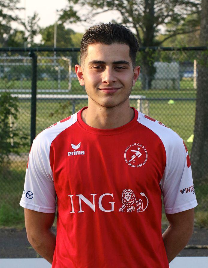 Hakan Basagac in het shirt van Goes.