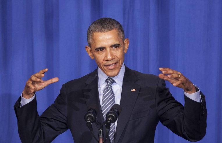 Amerikaans president Obama beheerst de kunst der lichaamstaal meesterlijk. Beeld photo_news