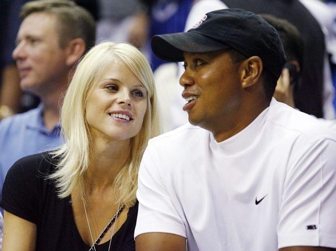 Elin Nordegren en Tiger Woods in 2009.